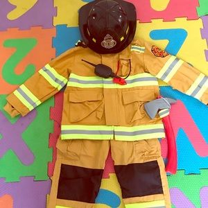 Fire man costume for toddler